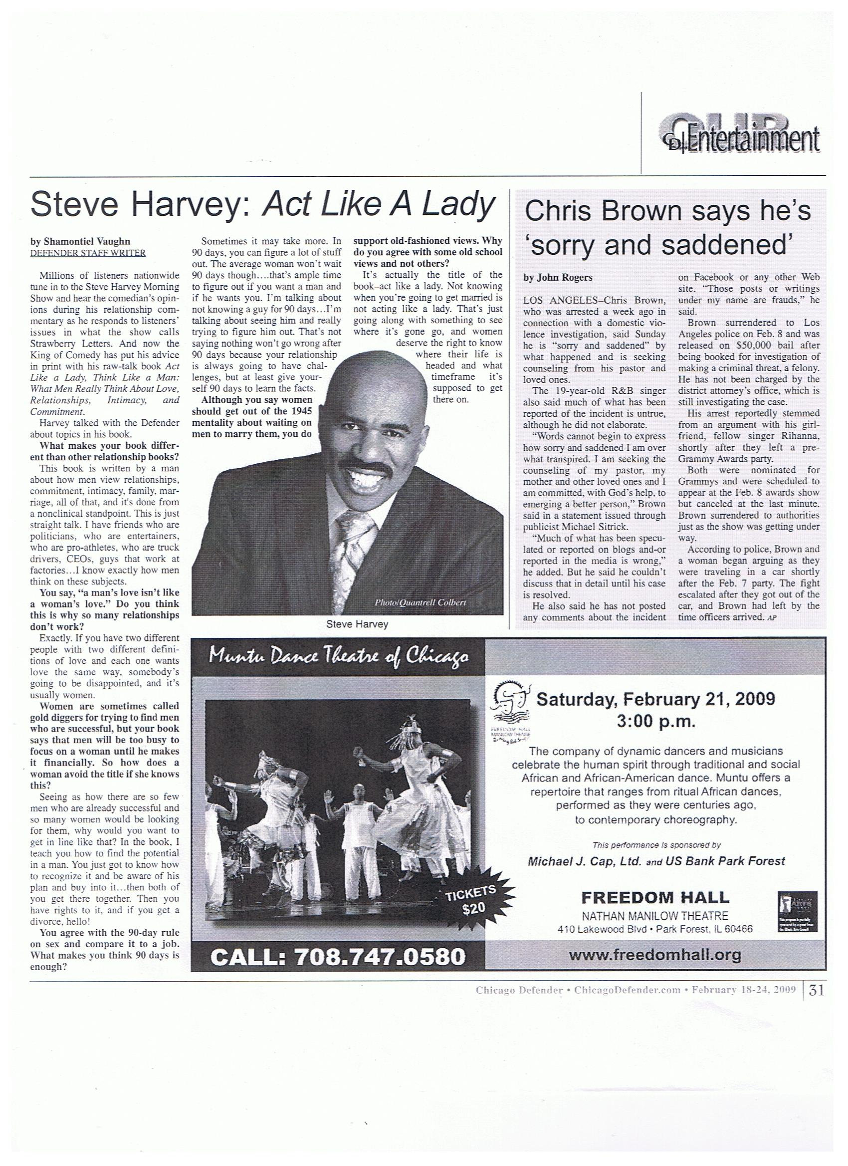 act like a lady think like a man dating rules At your job, didn't you have the 90-day rule before benefits notes from the interview with steve harvey, author of act like a lady, think like a man.